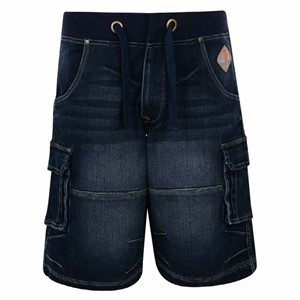 KAM Chicago Elastic Rib Denim Short