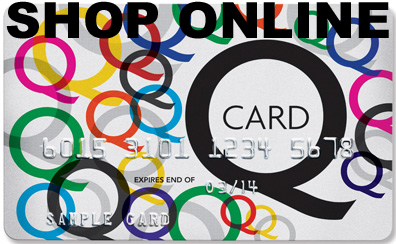 Q Card - use to purchase on-line
